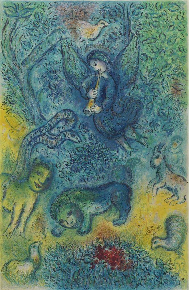 After Marc Chagall - The Magic Flute-1967