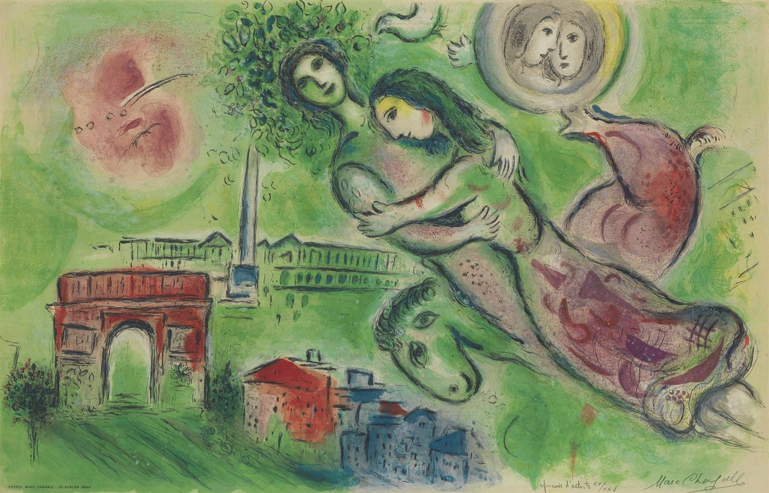 After Marc Chagall - Romeo And Juliet-1964