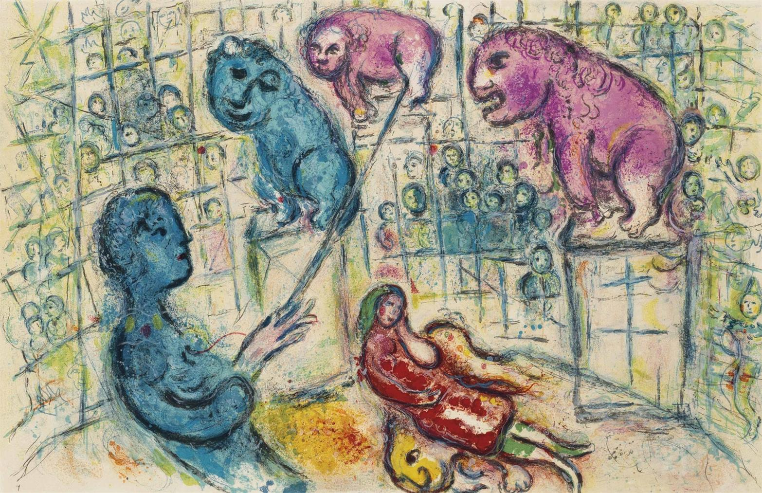 Marc Chagall-Cirque: One Plate-1967