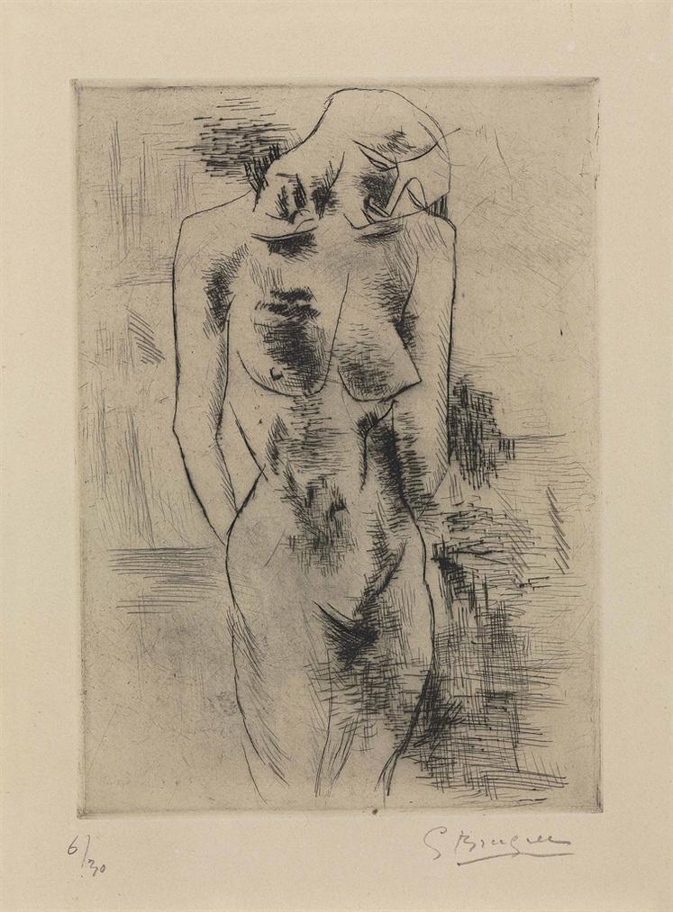 Georges Braque-Etude De Nue (Nu)-1908