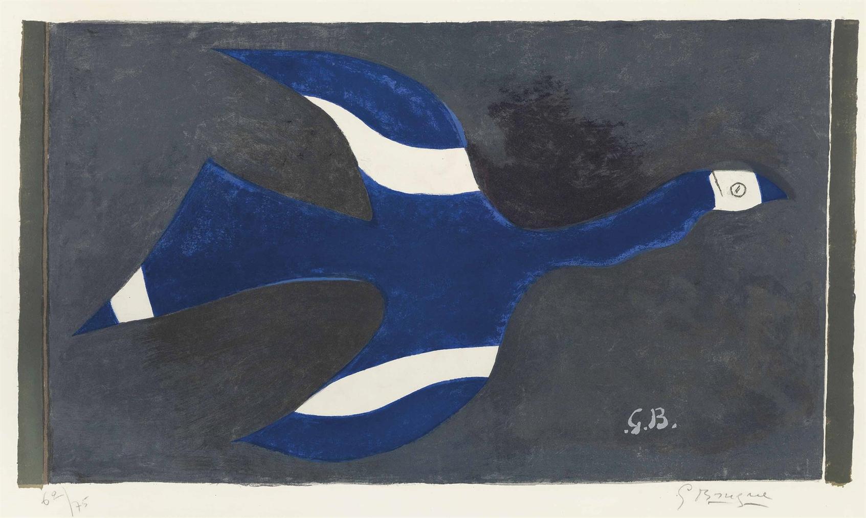 Georges Braque-Vol De Nuit (Oiseau XII)-1957