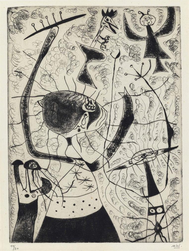 Joan Miro-Les Trois Soeurs-1938