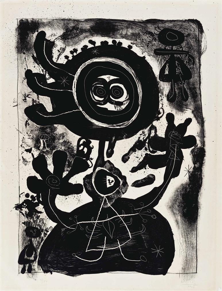 Joan Miro-Grand Personnage Noir-1948