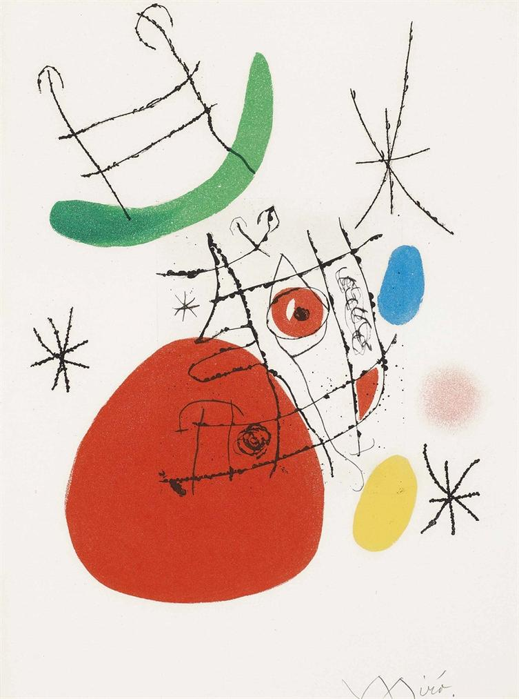 Joan Miro-El Innocente: Two Plates-1974