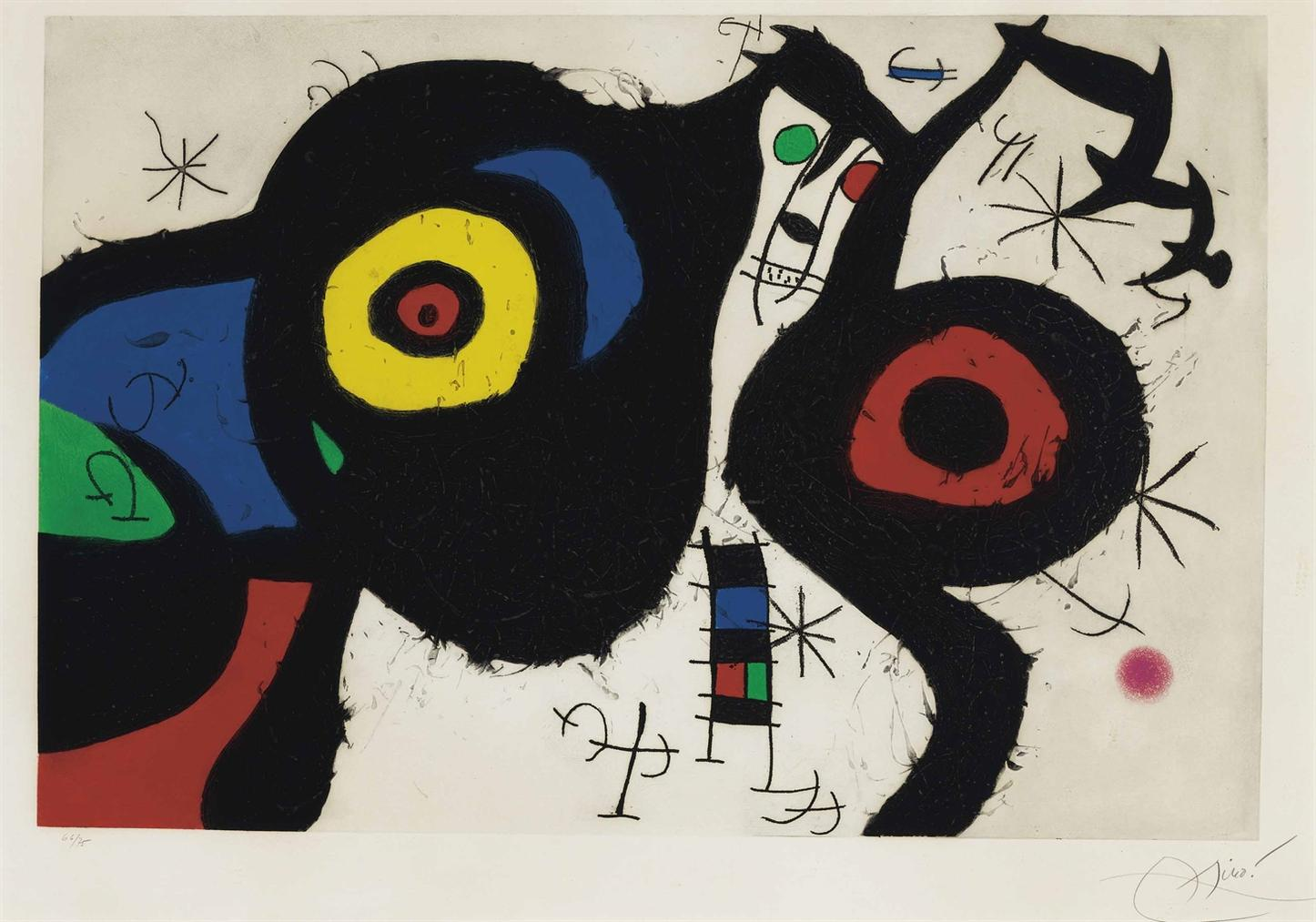 Joan Miro-Les Deux Amis-1969