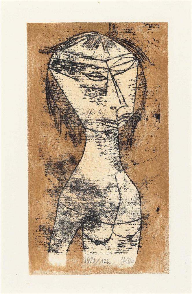 Paul Klee-Die Heilige Vom Innern Licht, From Bauhaus-Drucke. Neue Europaische Graphik. Erste Mappe. Meister Des Staatlichen Bauhauses In Weimar-1921