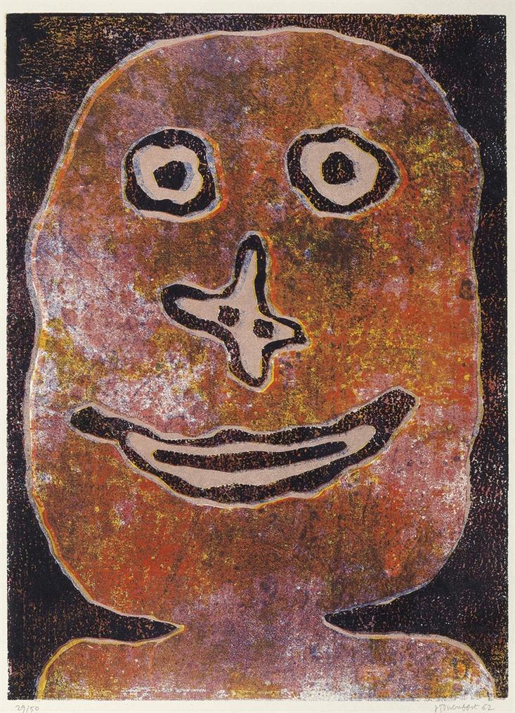 Jean Dubuffet-Sourire-1962