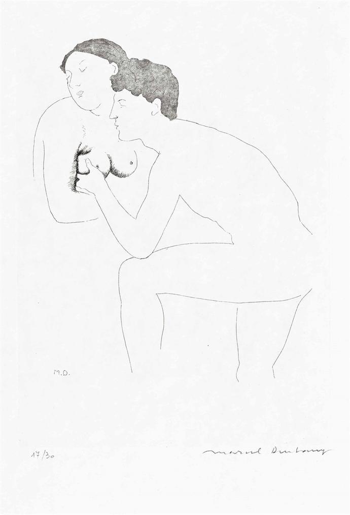 Marcel Duchamp-Couple Amoureux (Morceaux Choisis D'Apres Ingres II)-1968