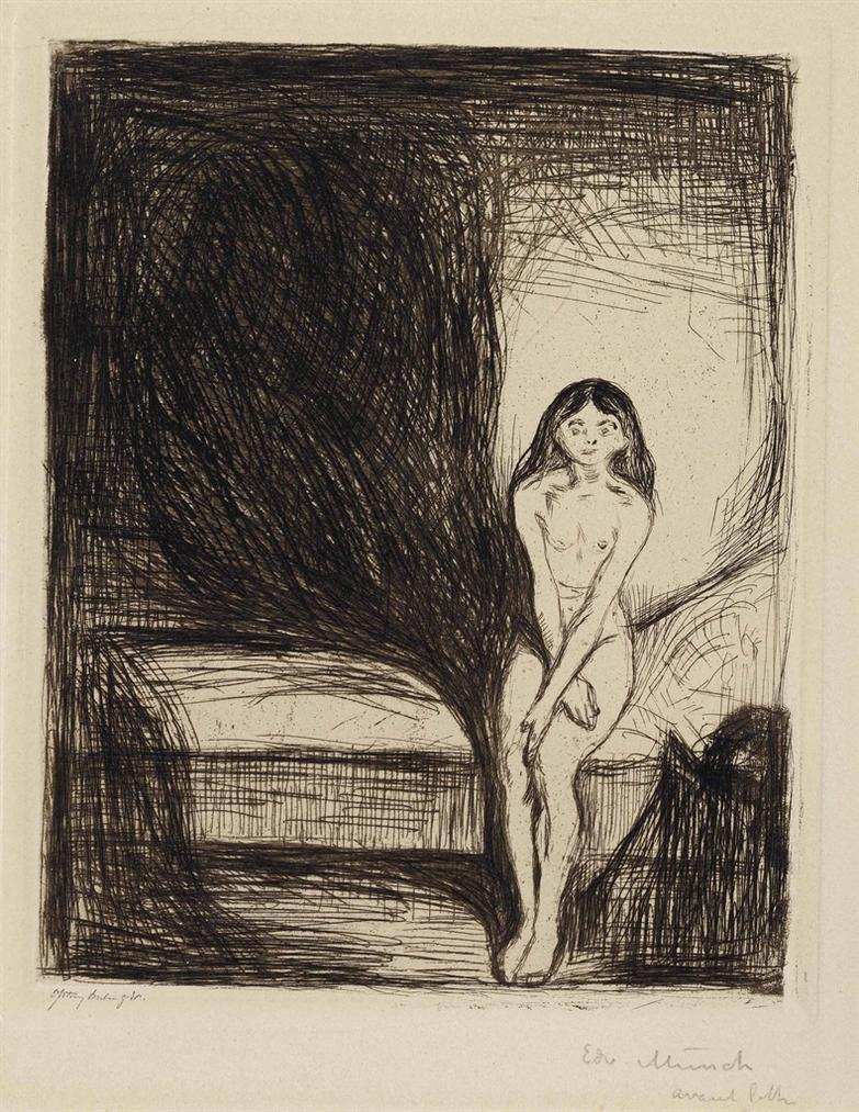 Edvard Munch-Puberty-1902