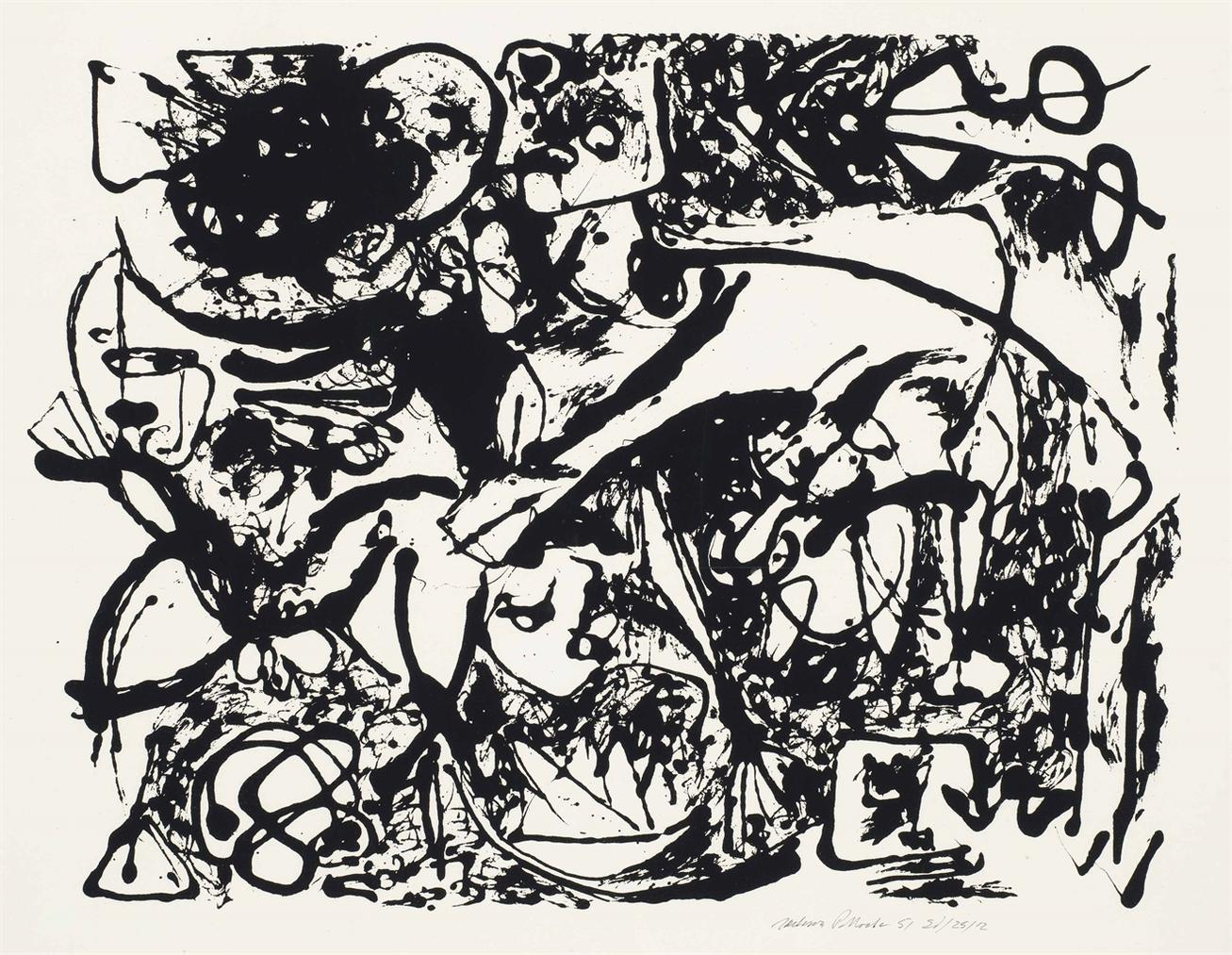 Jackson Pollock-Number 8, From Untitled-1951