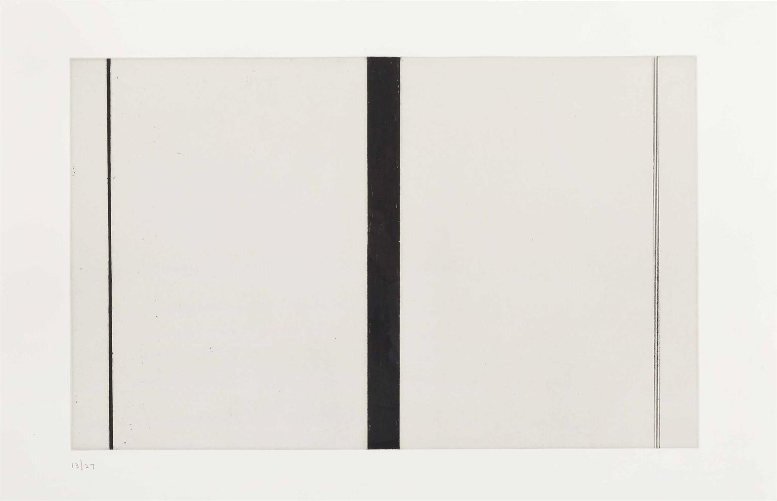 Barnett Newman-Untitled Etching I-1969