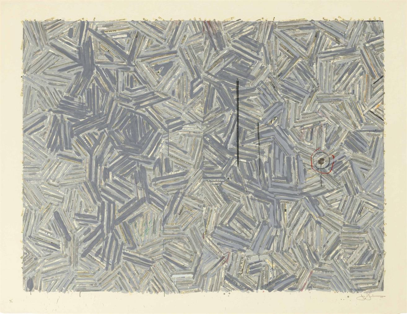 Jasper Johns-The Dutch Wives-1977