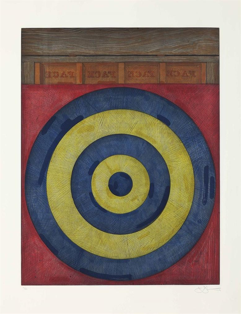 Jasper Johns-Target With Four Faces-1979
