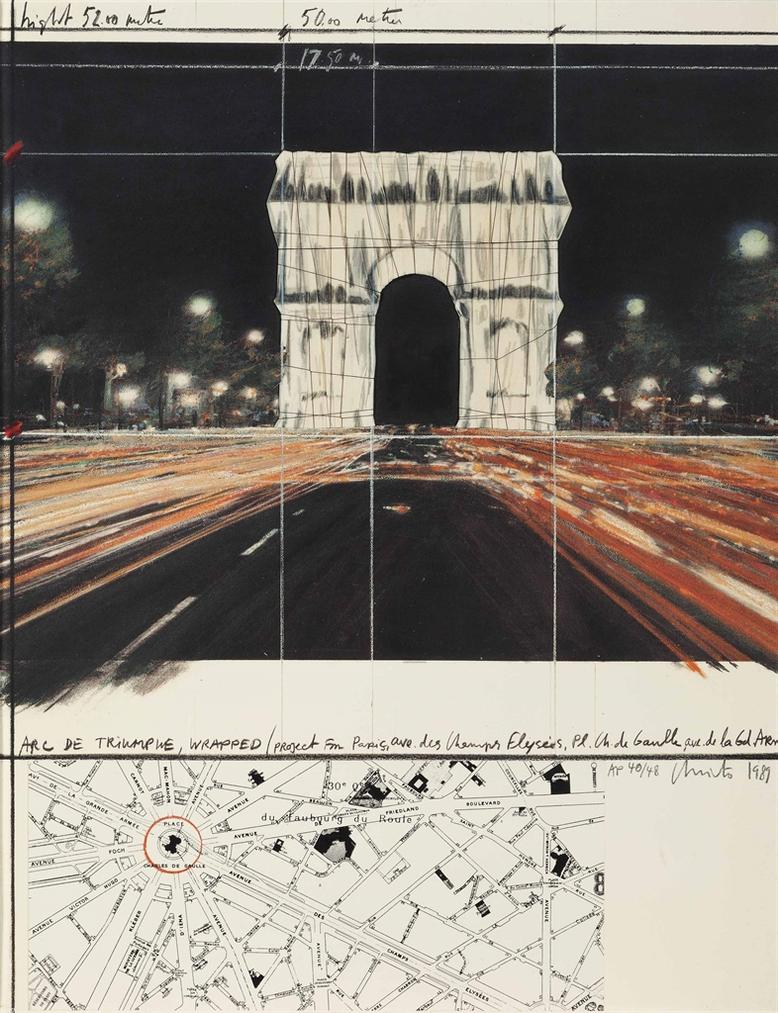 Christo and Jeanne-Claude-Arc De Triomphe, Wrapped, Project For Paris-1989