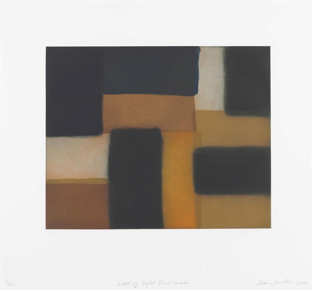 Sean Scully-Wall Of Light Blue Corner-2010