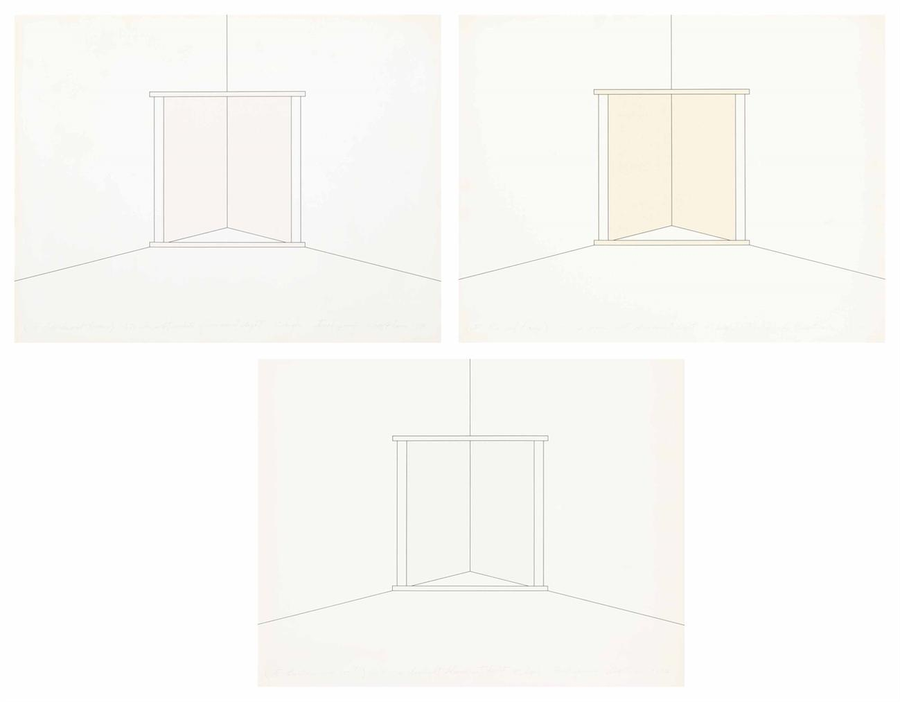 Dan Flavin-In Fluorescent Light 8 High To European Couples: Three Plates-1973
