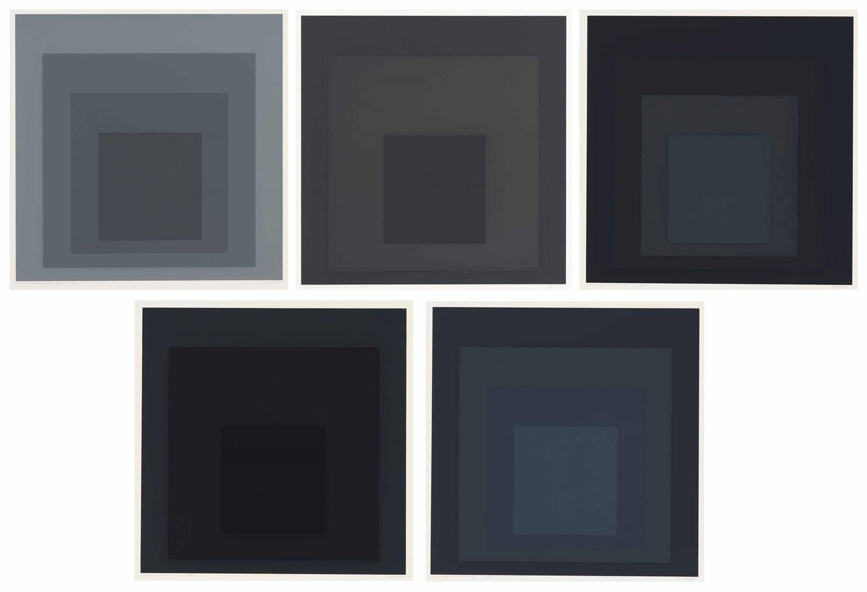 Josef Albers-Gray Instrumentation I: Five Plates-1974