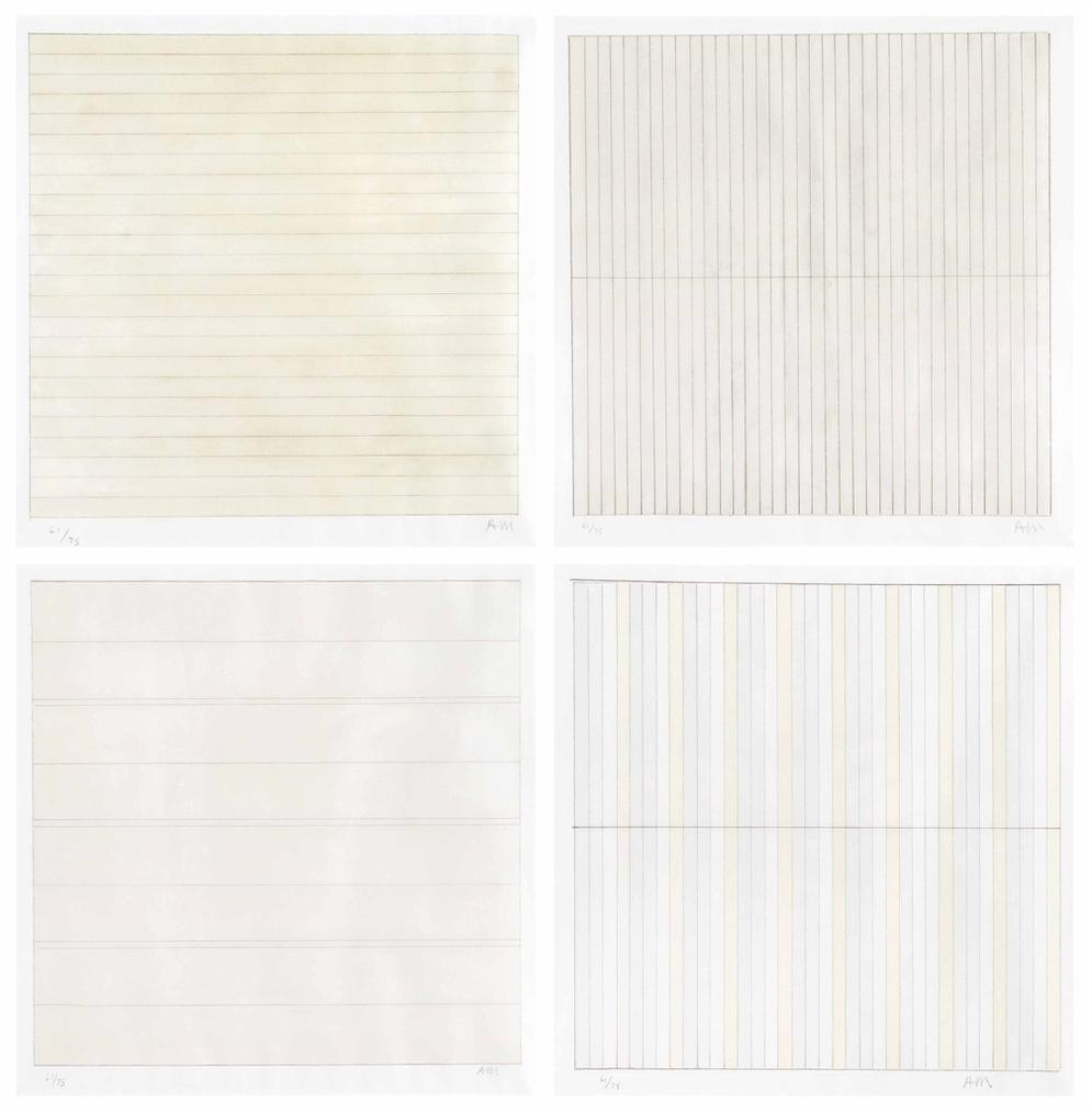 Agnes Martin-Untitled-1998