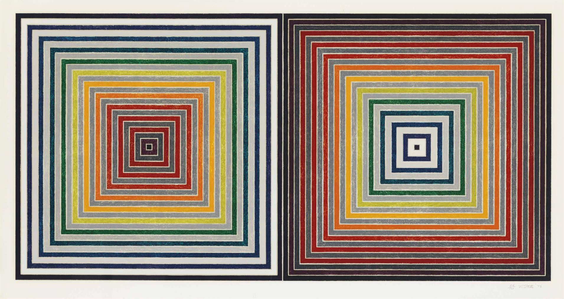 Frank Stella-Double Gray Scramble-1973