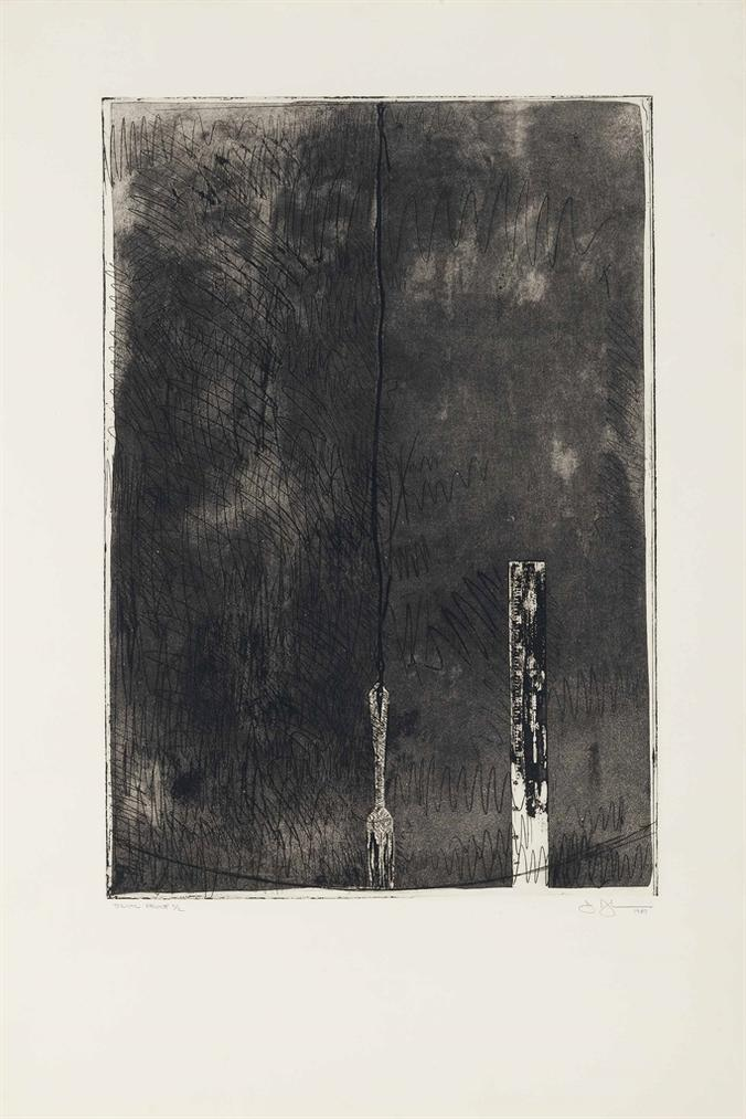 Jasper Johns-Untitled, Second State-1969