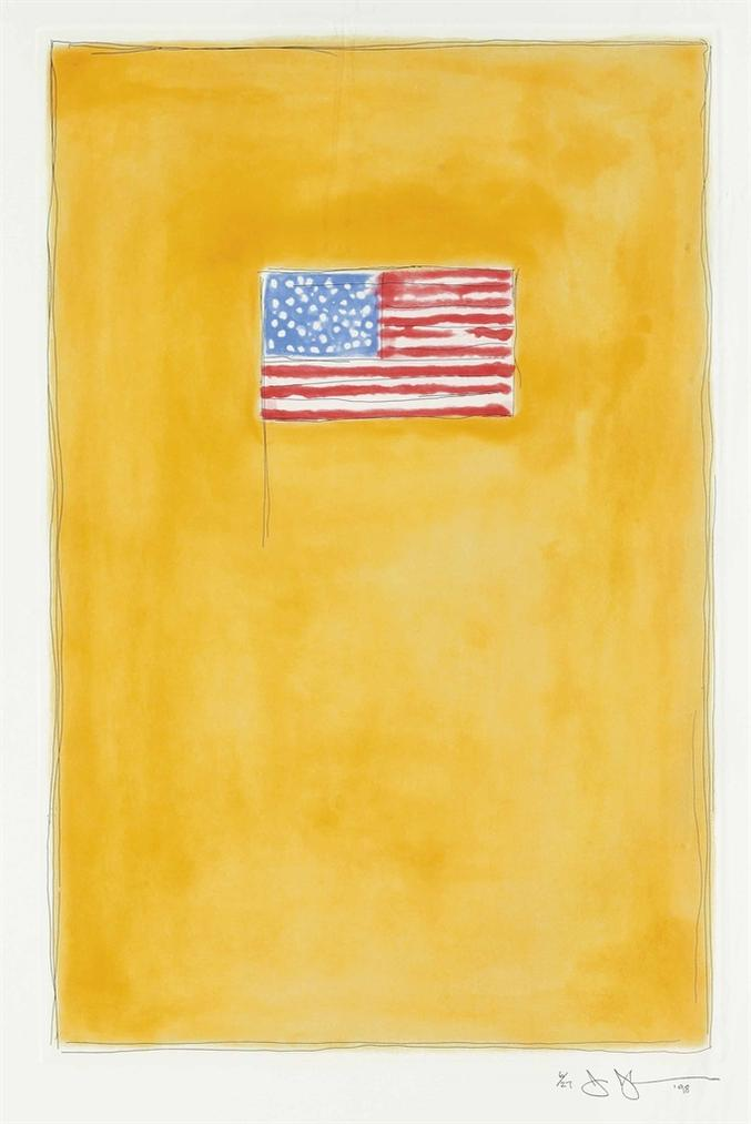 Jasper Johns-Flag On Orange-1998