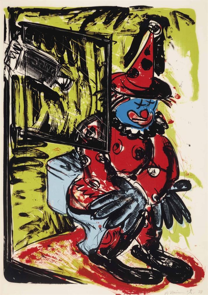 Bruce Nauman-Clown Taking A Shit-1988