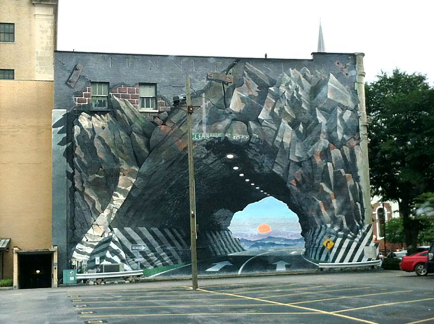 Painted tunnel
