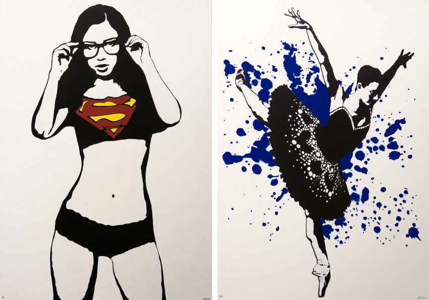 3F - Supergirl on Canvas - Ballerina on Canvas