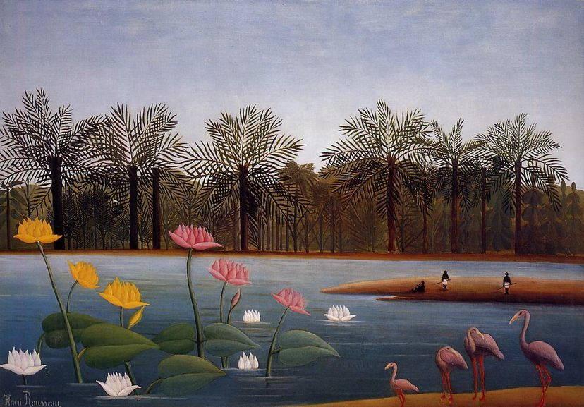 Henri Rousseau The Flamingoes