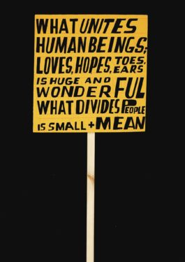 Bob and Roberta Smith-What Unites Human Beings-2017