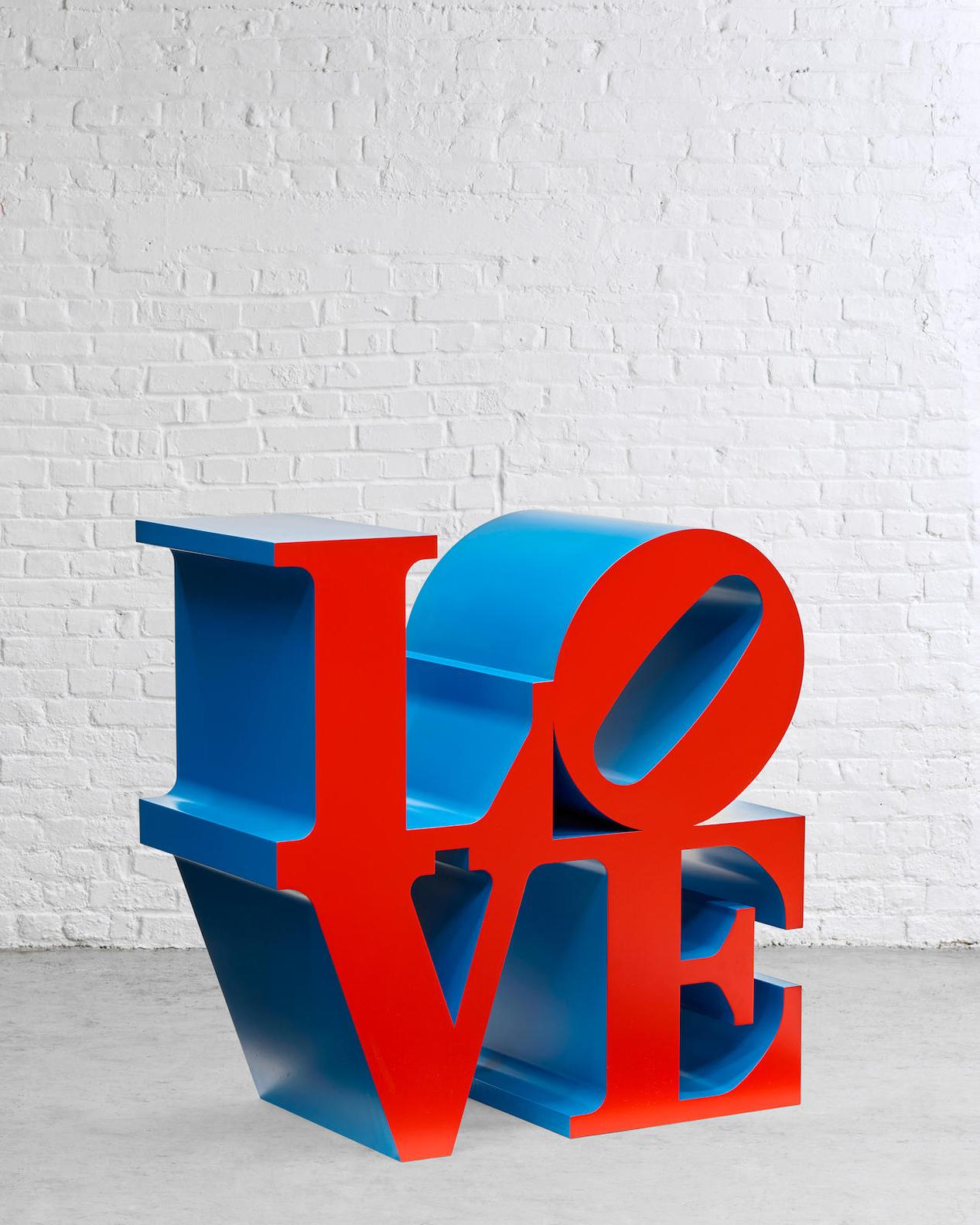 Robert Indiana-Love (Red Faces Blue Sides)-2000