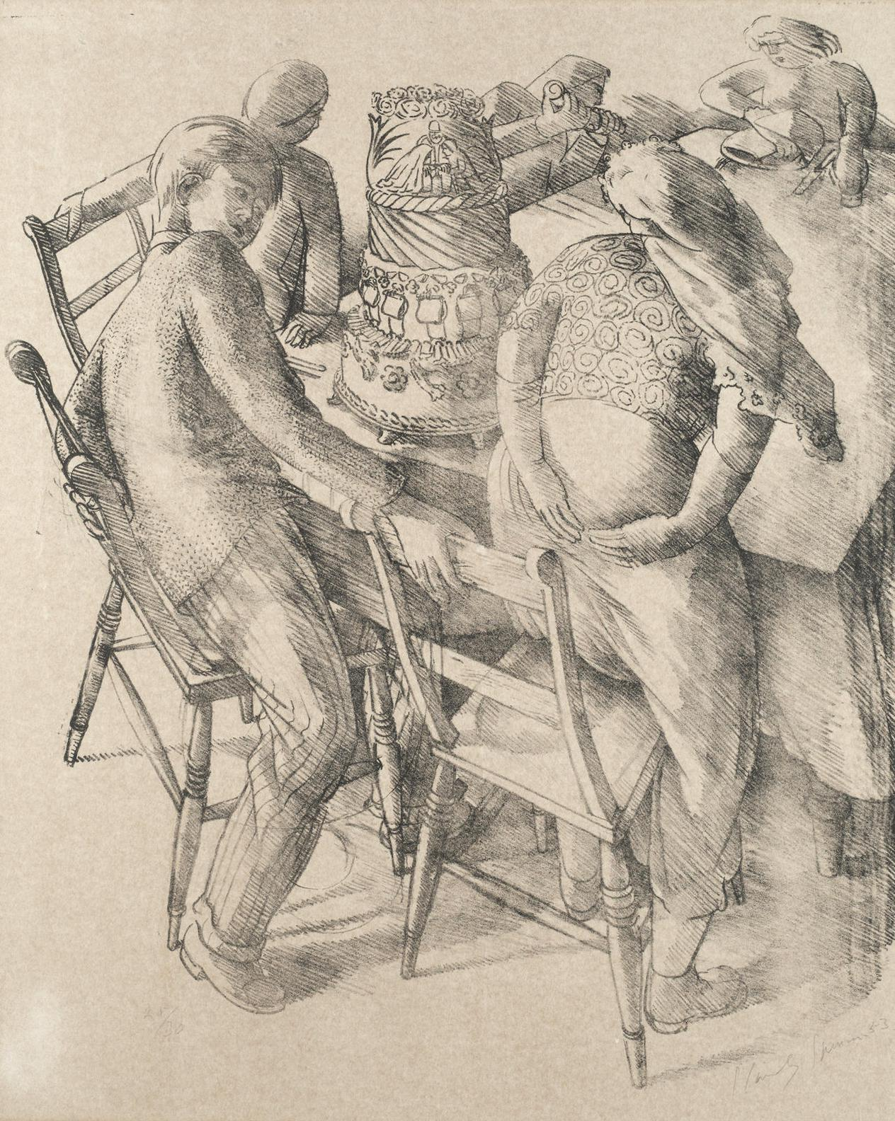 Stanley Spencer-Marriage At Cana-1952