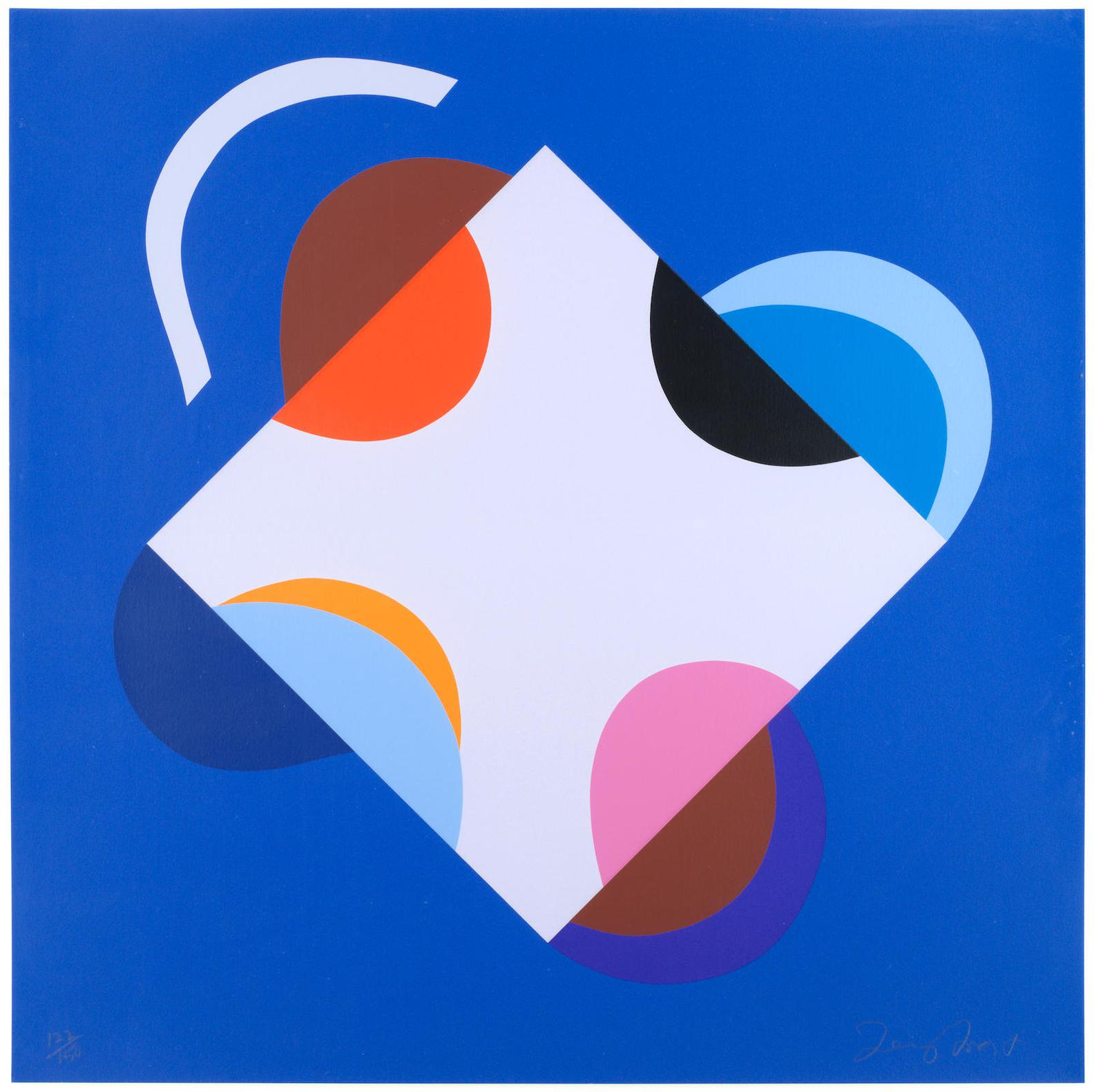 Terry Frost-Development Of A Square Within A Square (Blue, Green, Orange & Red)-2000