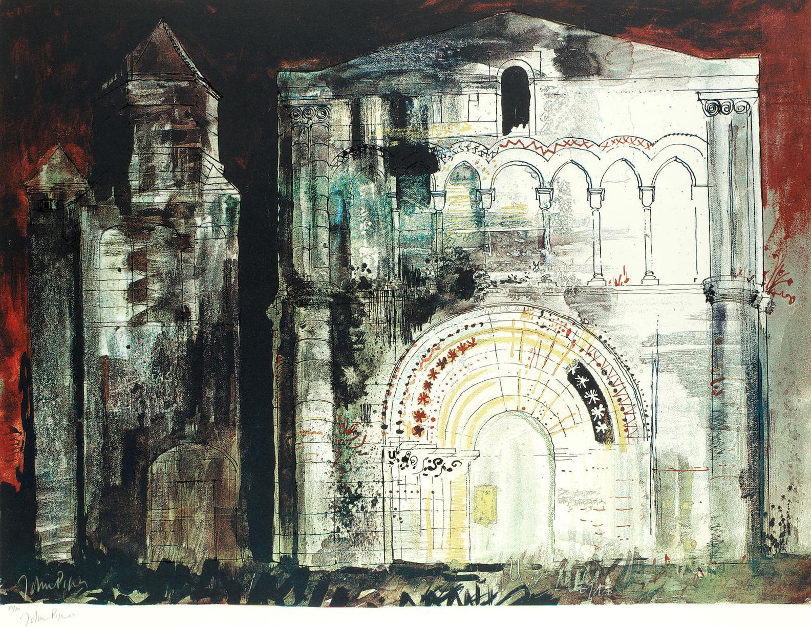 John Piper-St Simon-De-Pelouaille, Charente-1968