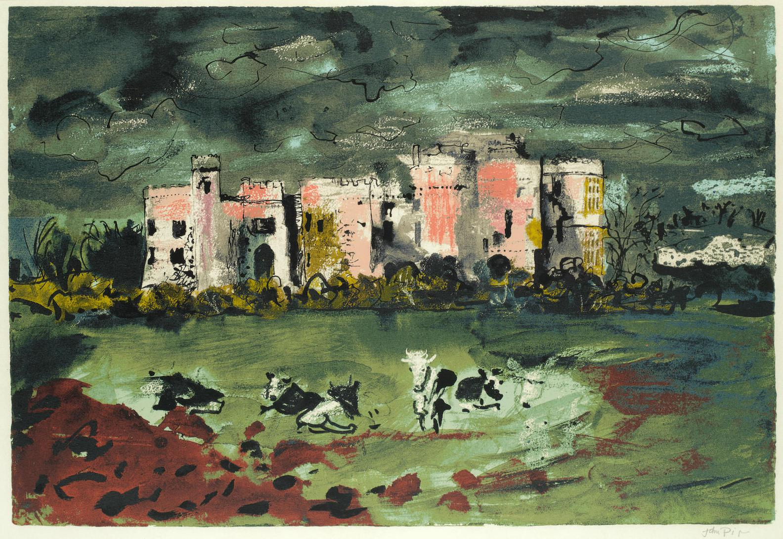 John Piper-Carew Castle-1982