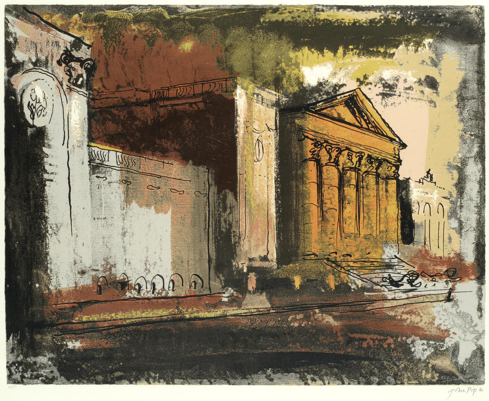 John Piper-Stowe, South Of The House-1986