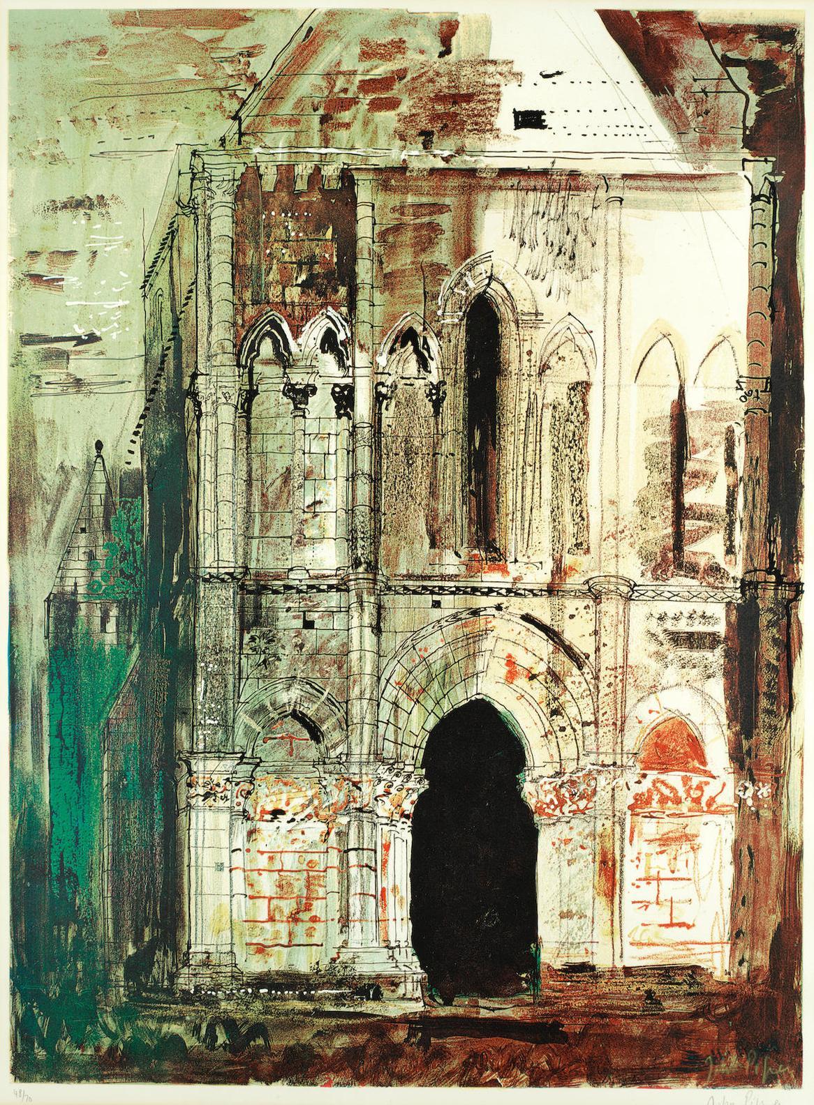 John Piper-Montpellier-De-Didonne, Charente-1968
