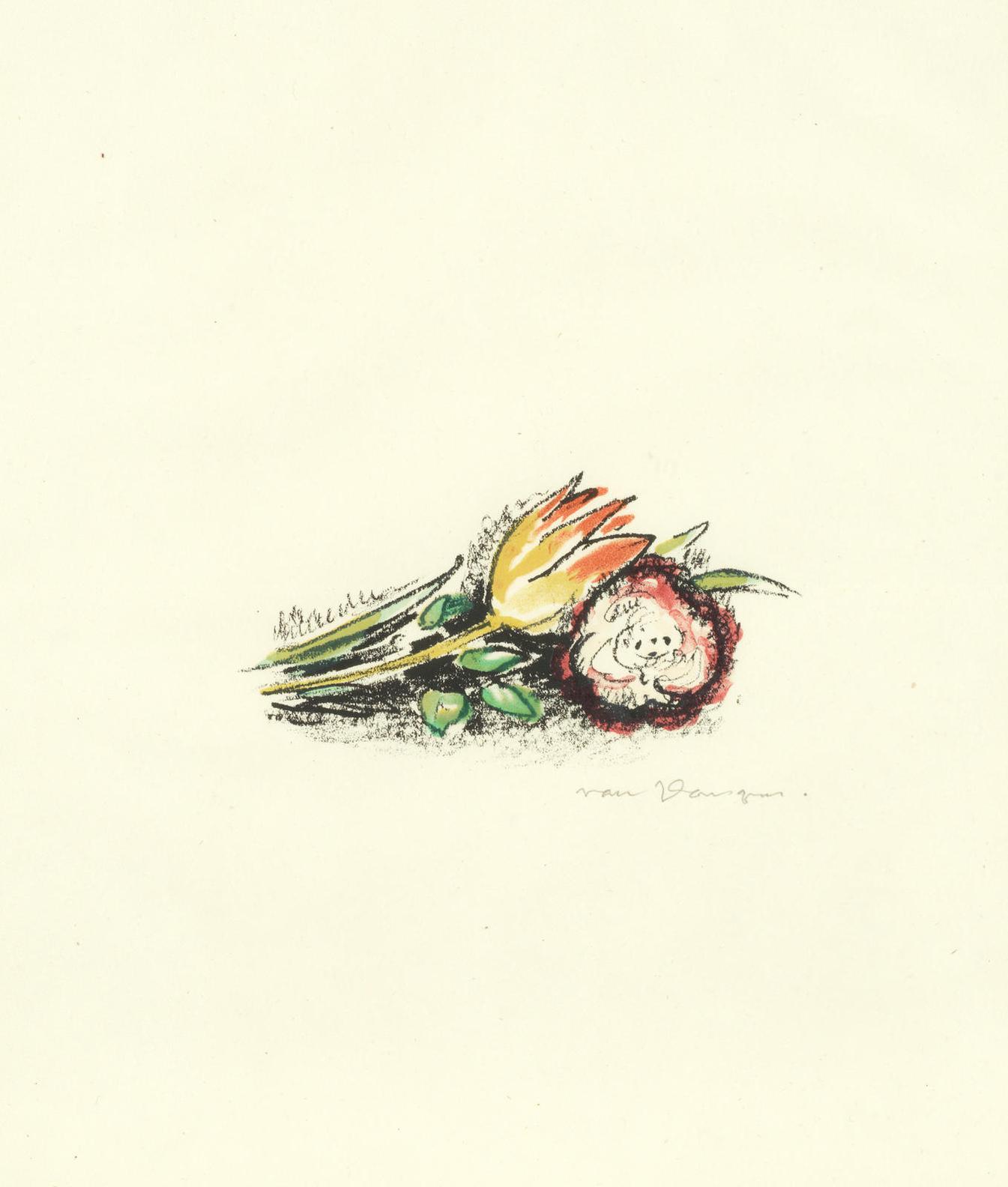 Kees van Dongen-Flowers-