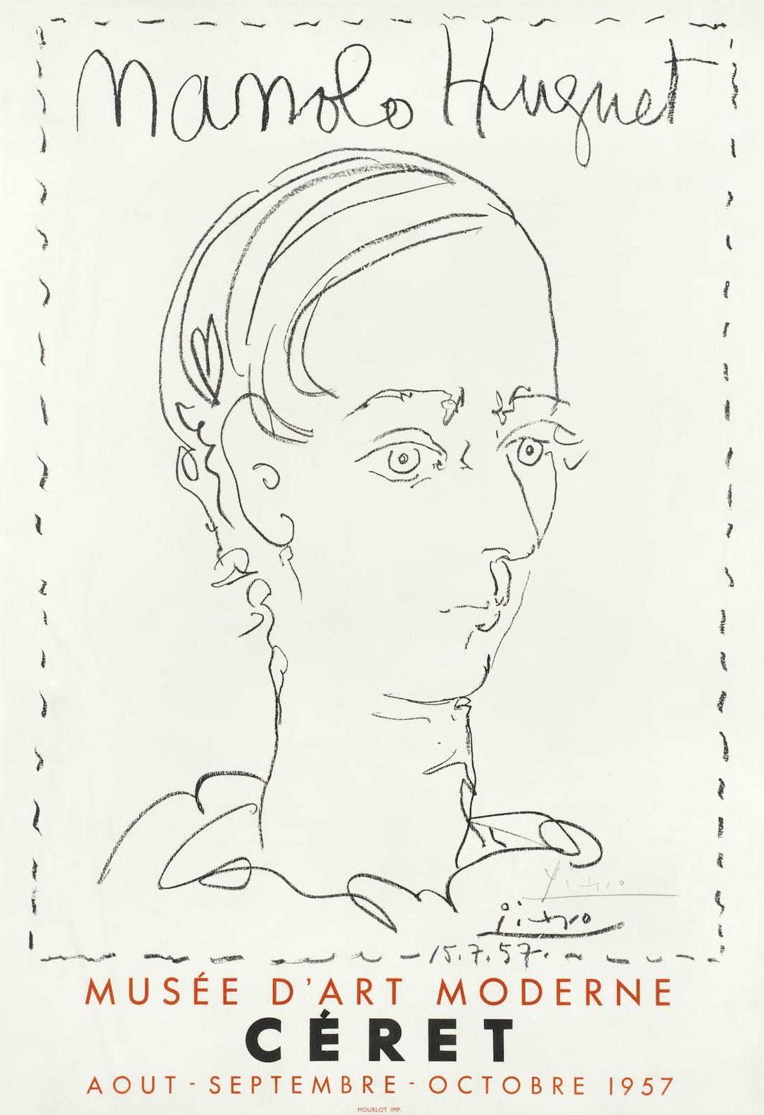 Pablo Picasso-Manolo Huguet-Affiche Pour Le Musee Dart Moderne, Ceret-1957