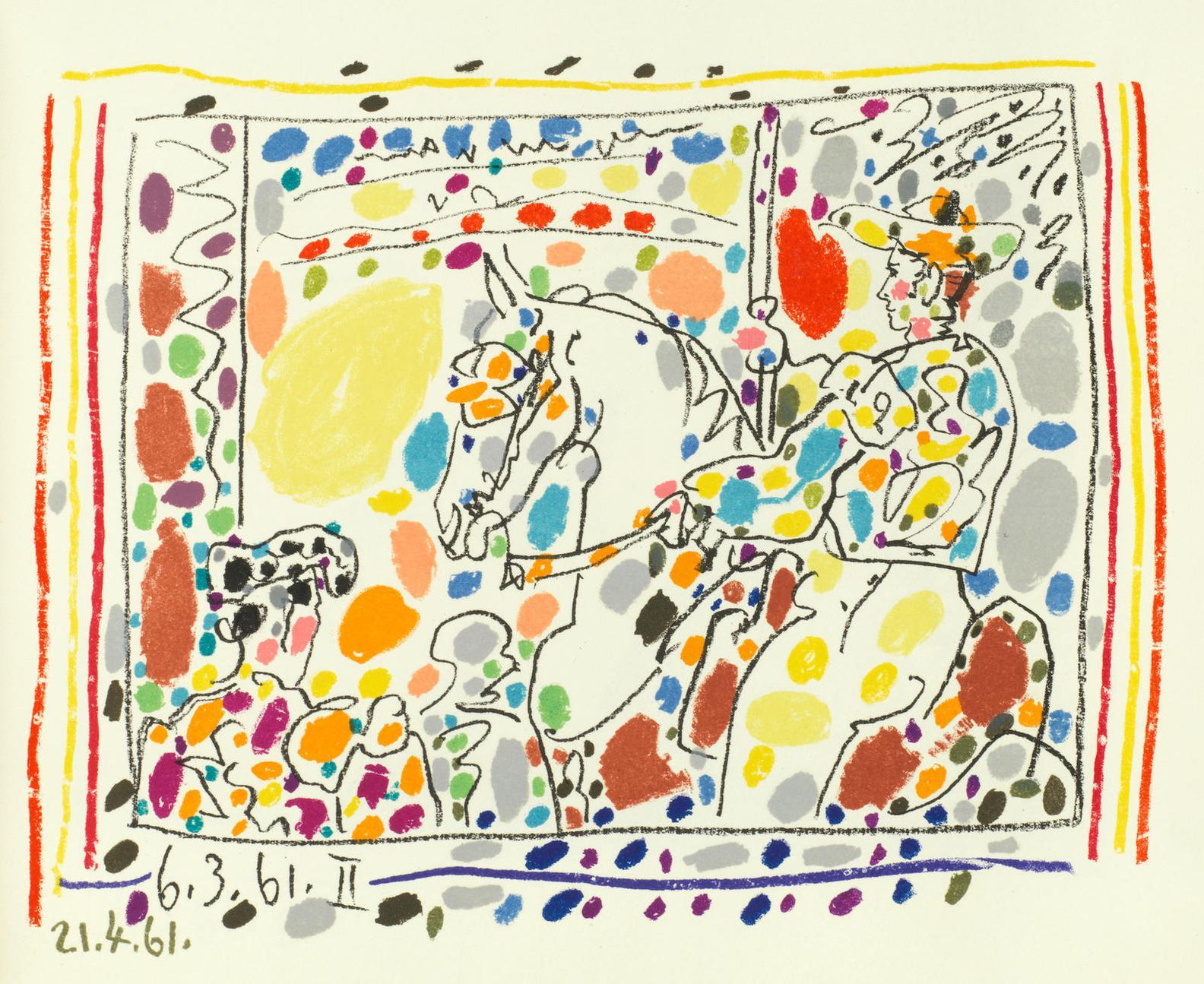 Pablo Picasso-A Los Toros-1961