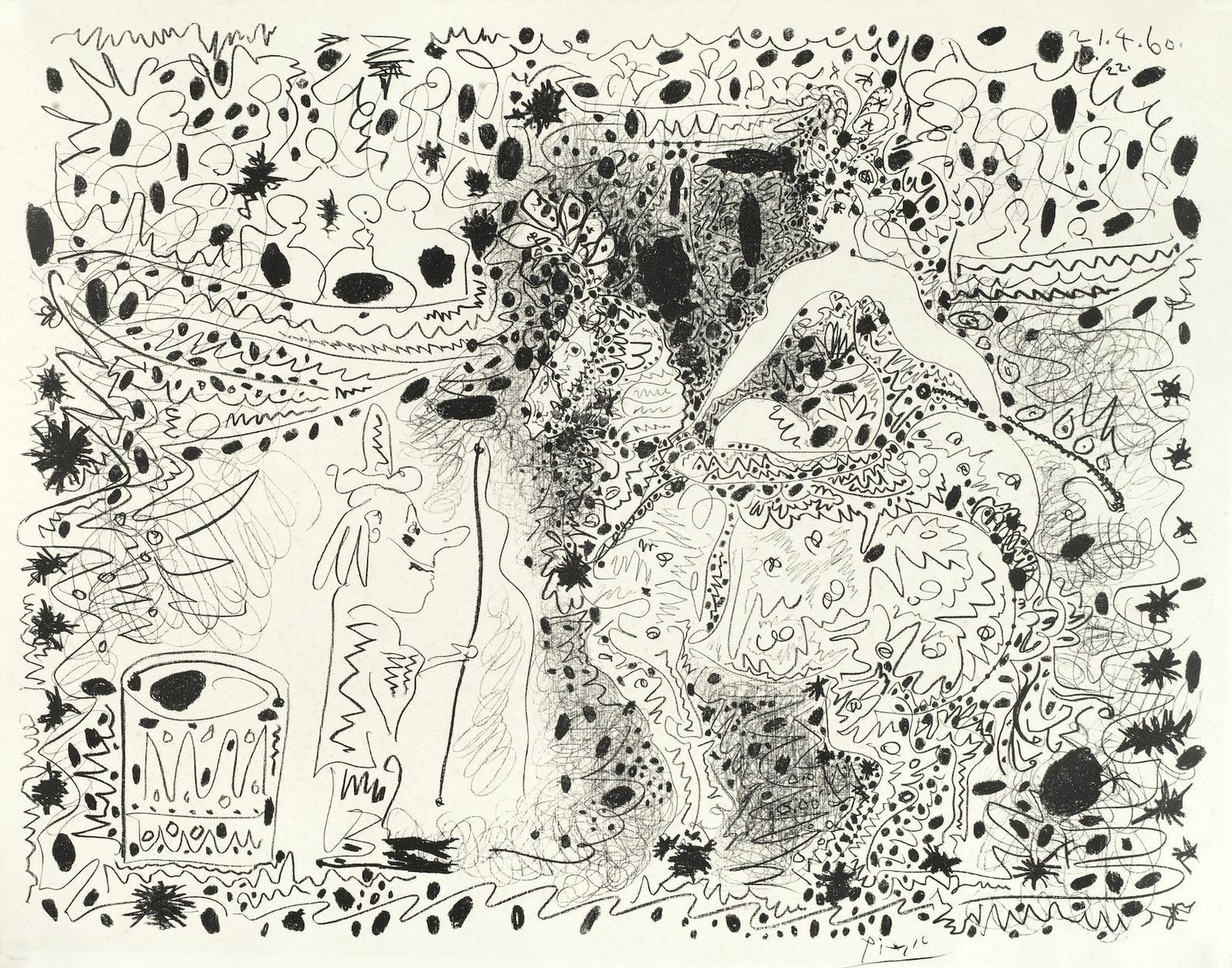 Pablo Picasso-Ecuyere-1960