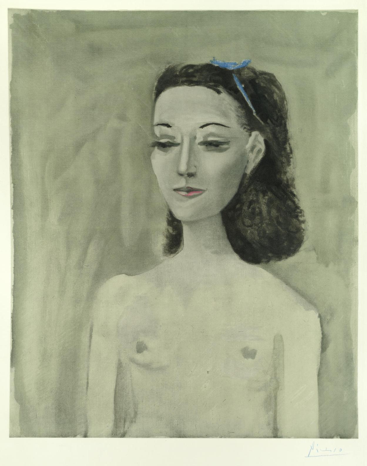 After Pablo Picasso - Femme Nue (Nusch Eluard)-1950