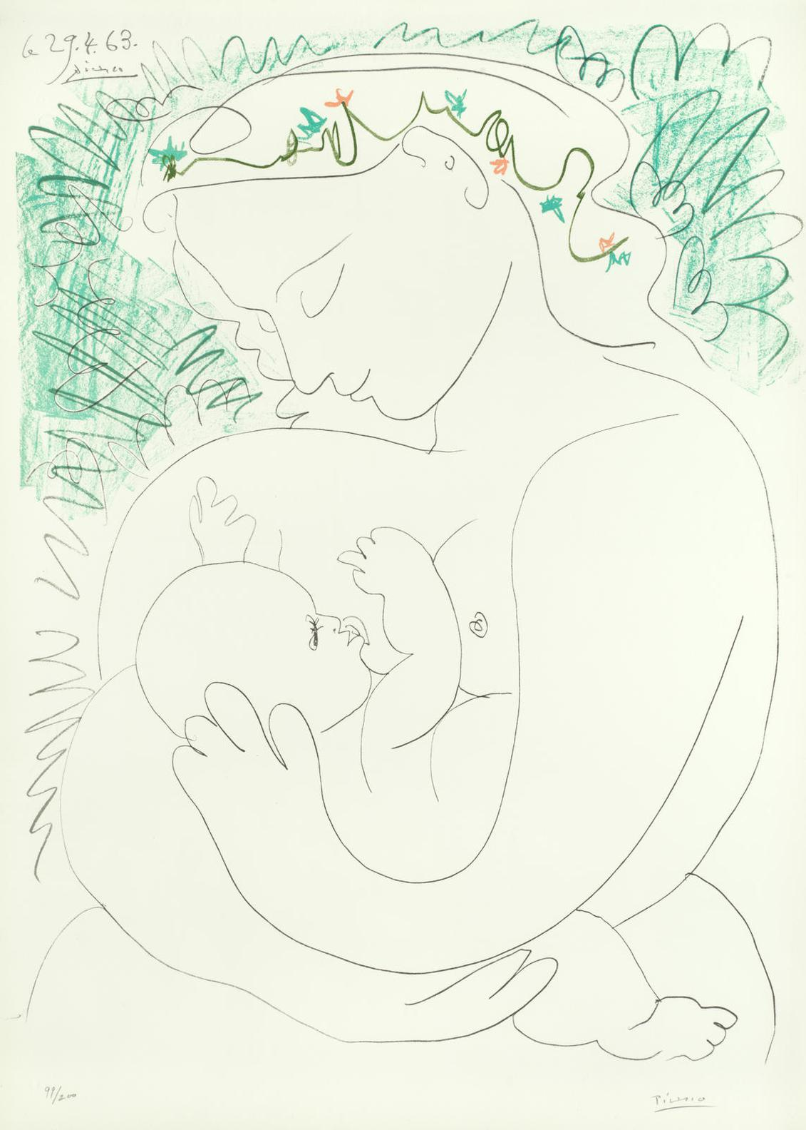 After Pablo Picasso - Maternite-1963