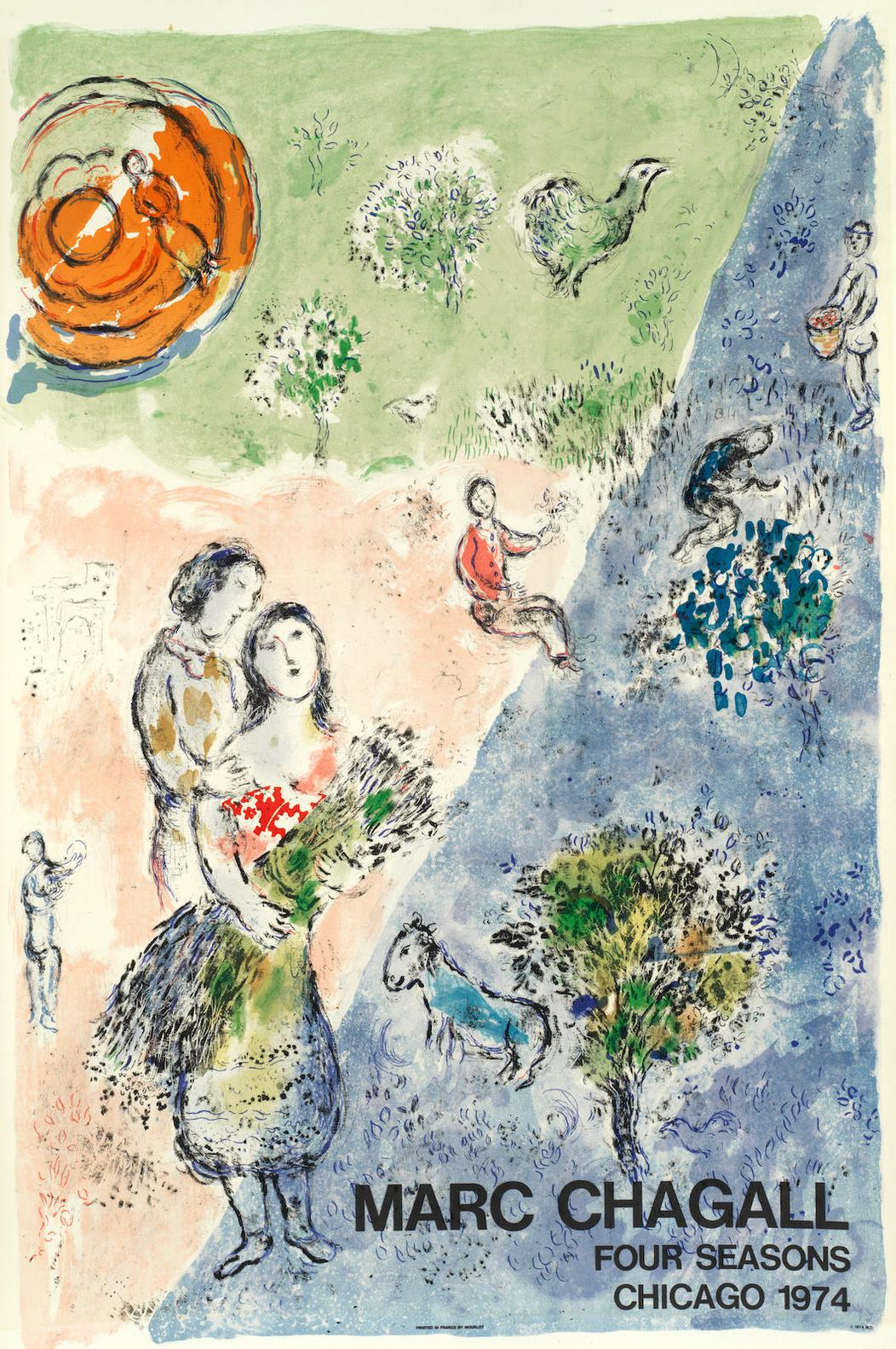 Marc Chagall-The Four Seasons-1974