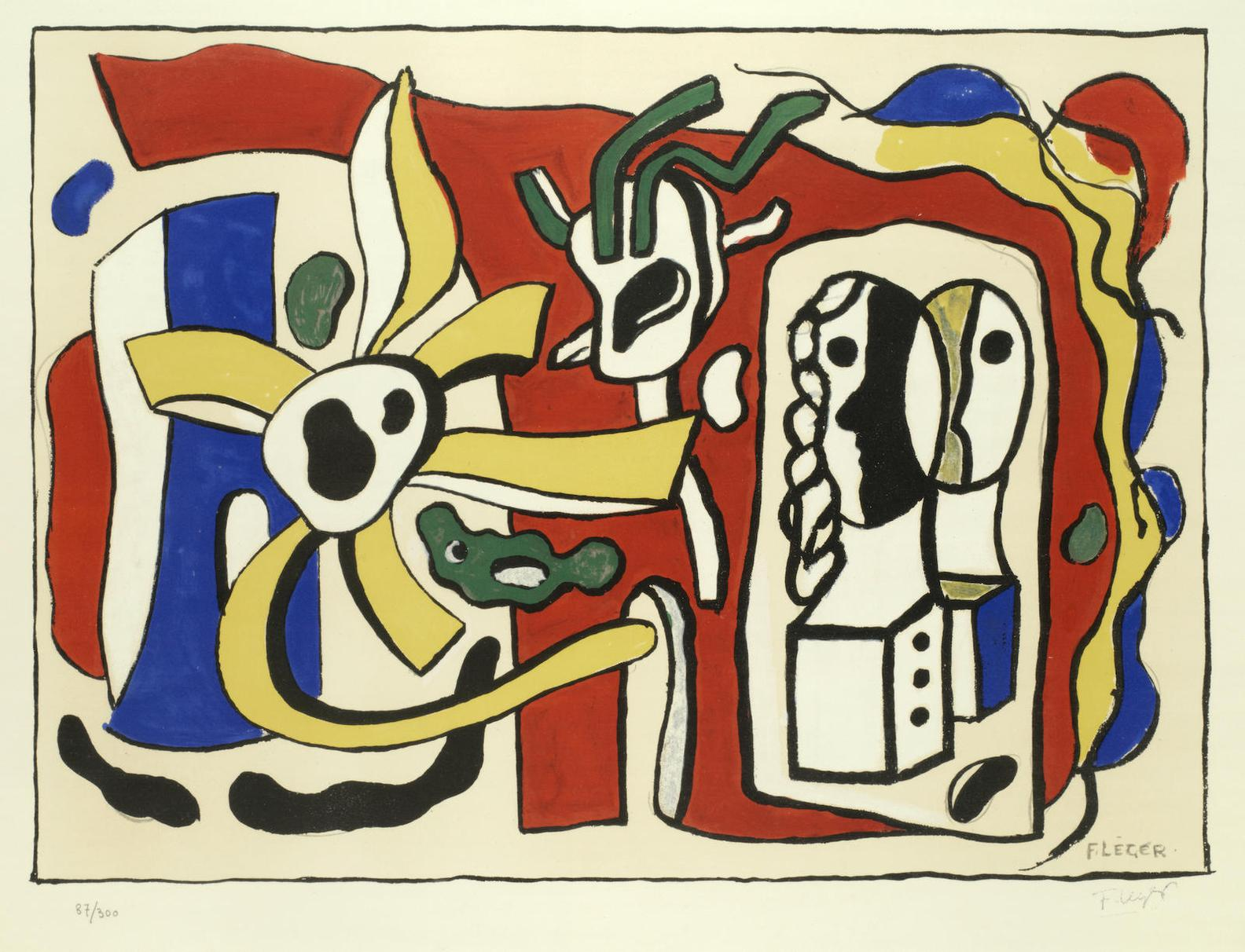Fernand Leger-Nature Morte Aux Deux Poupees-
