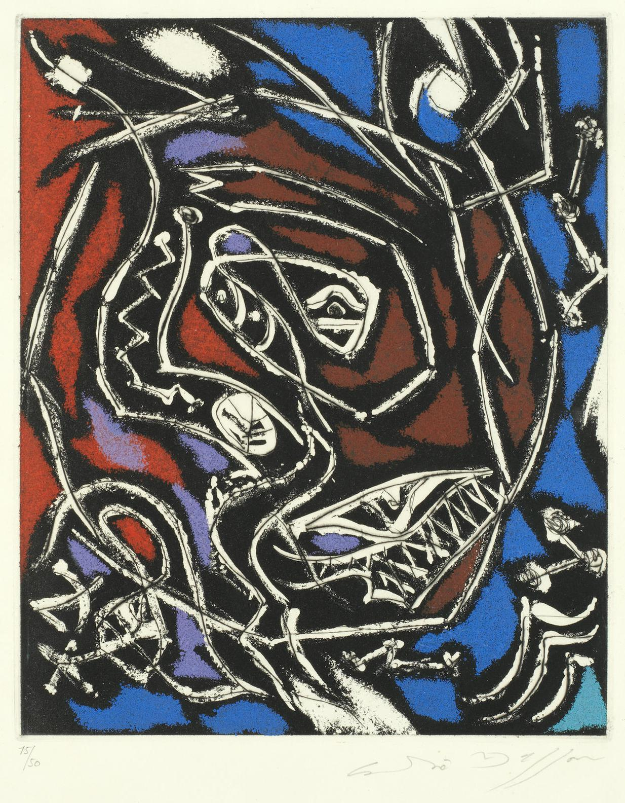 Andre Masson-Untitled (Abstract Composition)-