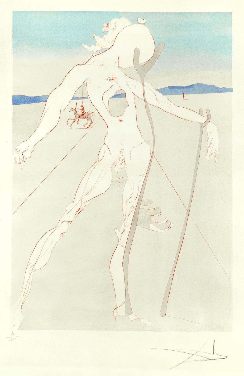 Salvador Dali-Hommage A La Medecine (Vesalius)-1973