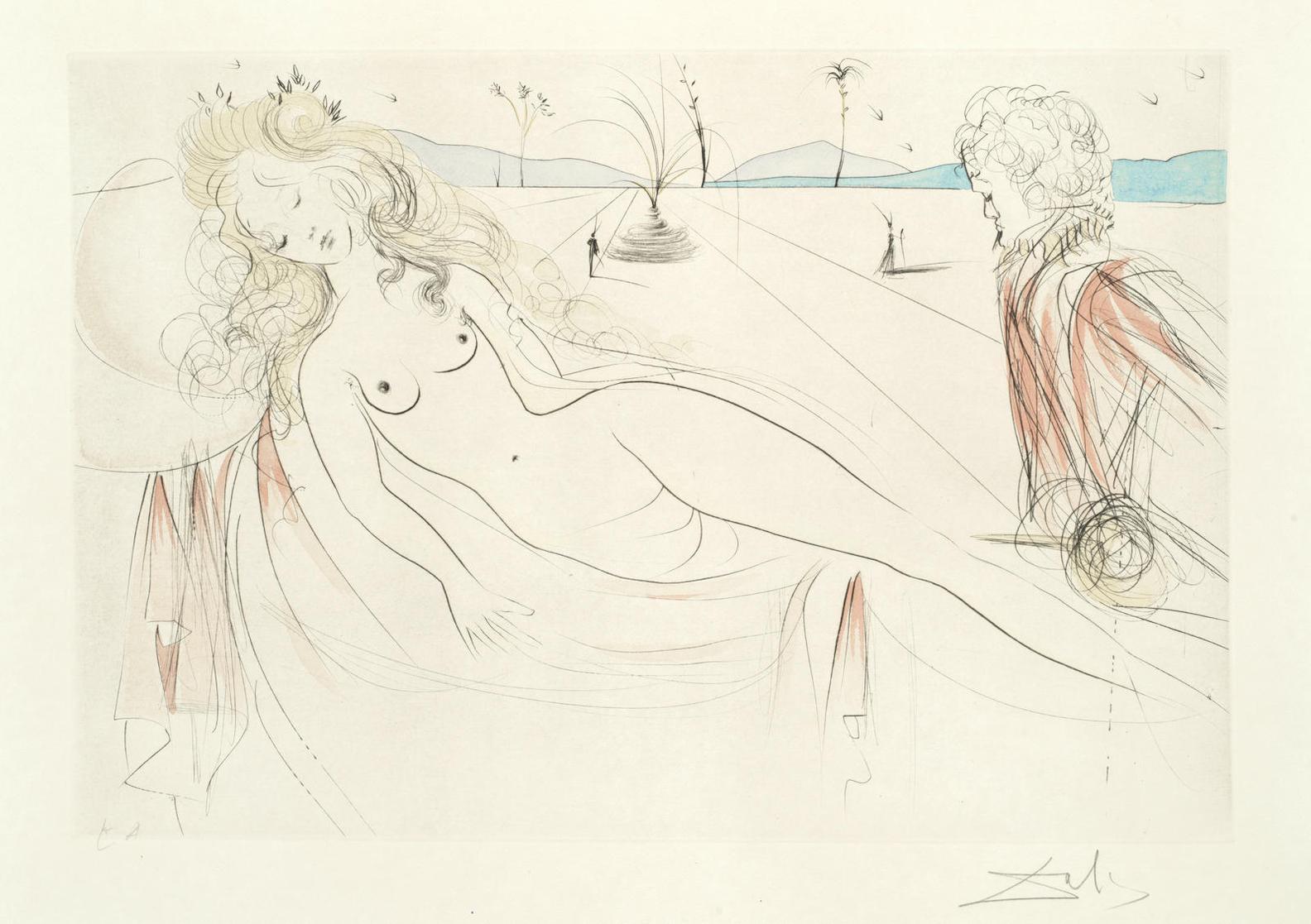 Salvador Dali-Venus Au Joueur Dorgue-1971