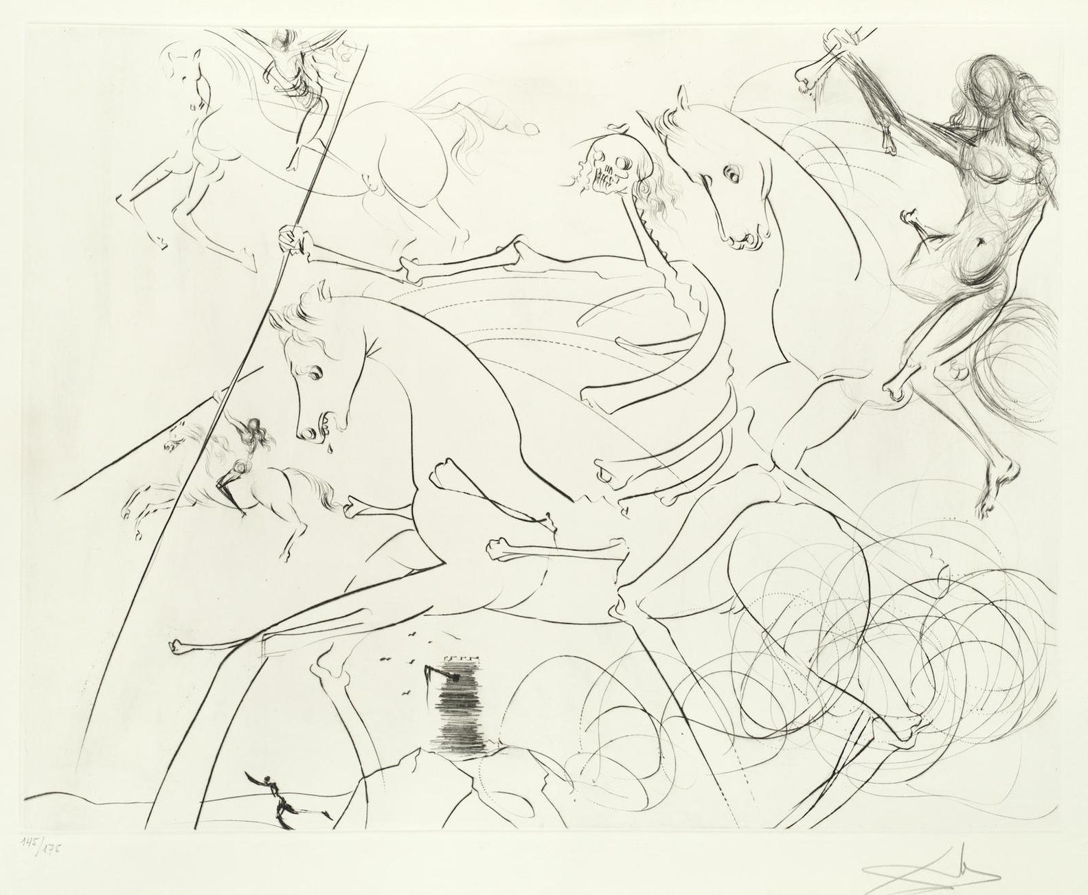 Salvador Dali-Der Apokalyptische Reiter-1974