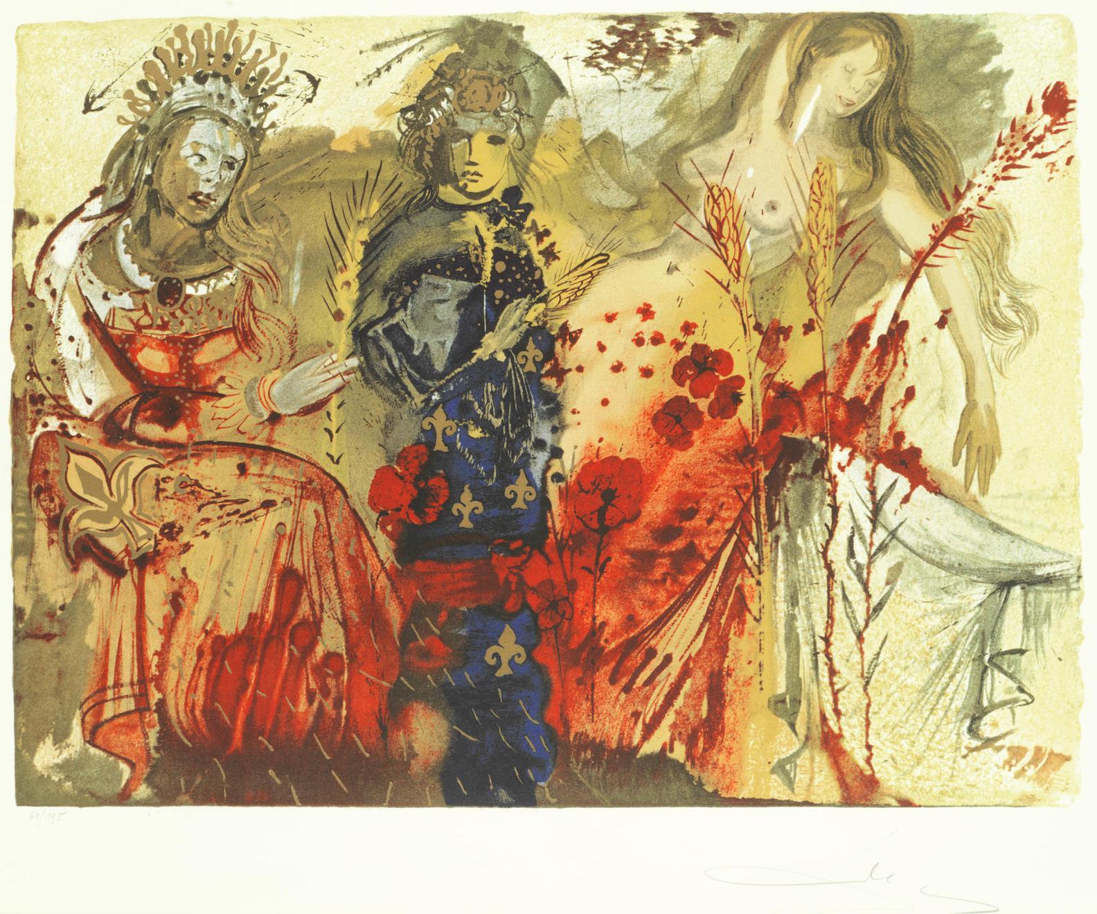 Salvador Dali-The Four Seasons-1972